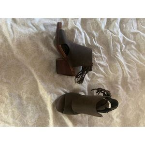 Boutique toeless booties